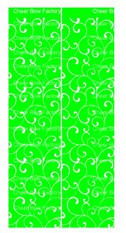 Trellis Lime Cheer Bow Ready to Press Sublimation Graphic