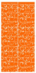 Trellis Orange Cheer Bow Ready to Press Sublimation Graphic