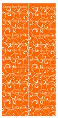 Trellis Orange Cheer Bow Ready to Press Sublimation Graphic