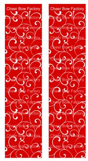 Trellis Red Cheer Bow Ready to Press Sublimation Graphic