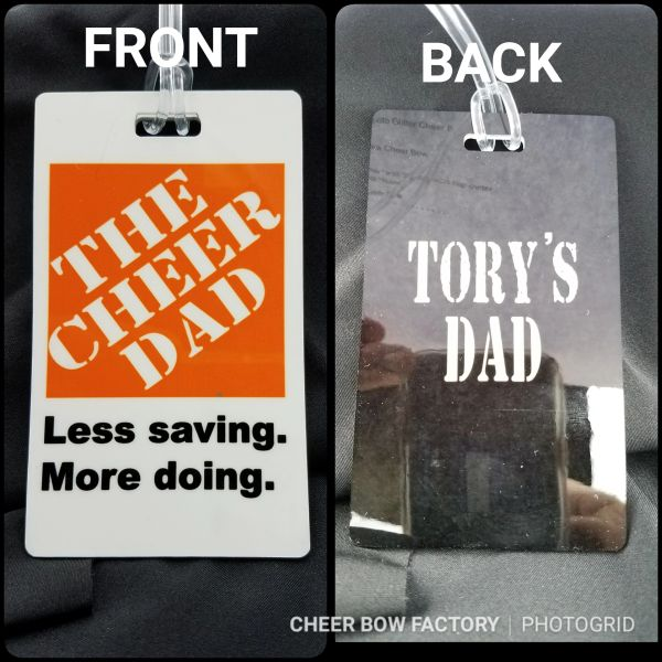 The Cheer Dad Bag Tag