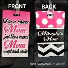 Cool Cheer Mom Personalized Bag Tag