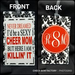 Sexy Cheer Mom Personalized Bag Tag