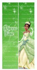Princess Tiana Cheer Bow Ready to Press Sublimation Graphic