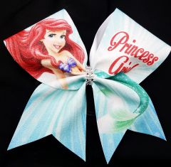 Princess Ariel Glitter Cheer Bow