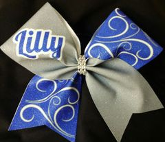 Personalized Swirl Cheer Bow