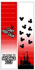 I Can't Keep Calm Nationals Cheer Bow Ready to Press Sublimation Graphic