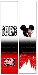 Believe Nationals Minnie Cheer Bow Ready to Press Sublimation Graphic