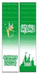 Tinkerbell Nationals Cheer Bow Ready to Press Sublimation Graphic