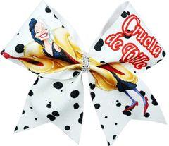 Cruella de Ville Glitter Cheer Bow