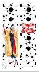 Cruella de Ville Cheer Bow Ready to Press Sublimation Graphic
