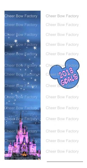 2018 Disney Goals Cheer Bow Ready to Press Sublimation Graphic