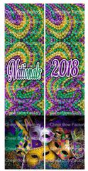 Nationals 2018 Mardi Gras Cheer Bow Ready to Press Sublimation Graphic