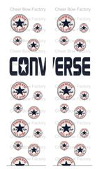 Converse Cheer Bow Ready to Press Sublimation Graphic
