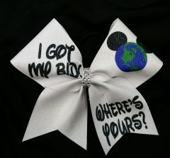 I Got My Bid Where's Yours Worlds Cheer Bow