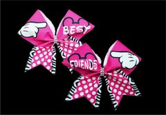 Mickey Best Friends Pink Cheer Bows