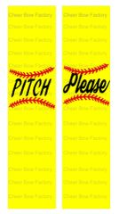 Pitch Please Softball Cheer Bow Ready to Press Sublimation Graphic