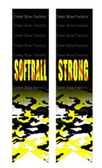 Softball Strong Cheer Bow Ready to Press Sublimation Graphic