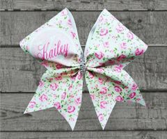 Shabby Chic Monogram Cheer Bow - style #1