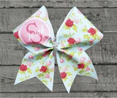 Shabby Chic Monogram Cheer Bow - style #2