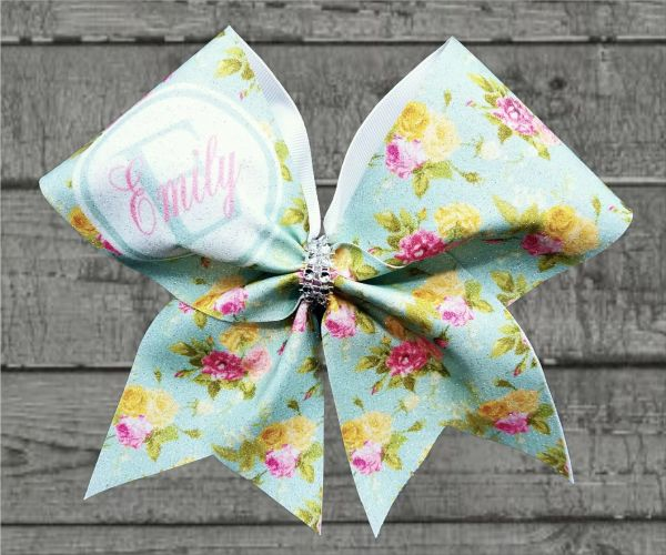 Shabby Chic Monogram Cheer Bow - style #3