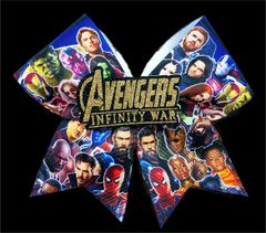 Avengers Infinity War Ribbon & Glitter 3D Center Cheer Bow