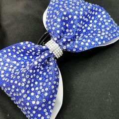 The Mikayla Glitter Rhinestone Tailless Cheer Bow