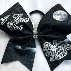 I Love You To The Moon & Back Cheer bow