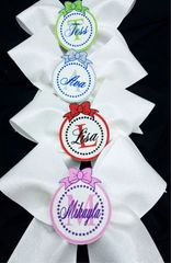Personalized Monogram 3D Center White Glitter Cheer Bow