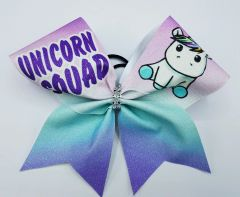 Unicorn Squad Cheer Bow