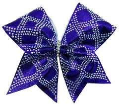 The Yvette Mystique & Rhinestone Cheer Bow Purple