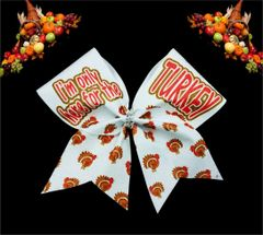 I'm Only Here for the Turkey Cheer Bow