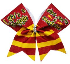 Life's a Struggle When Your A Muggle Harry Potter Cheer Bow