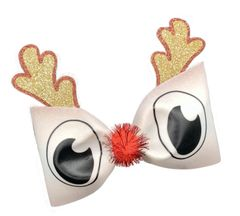 Rudolph 3D Tailless Cheer Bow