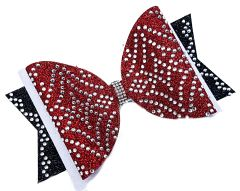 The Cleo Rhinestone Dolly Tailless Cheer Bow - all colors available