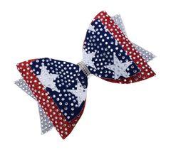 American Girl Triple Layer Rhinestone Dolly Cheer Bow