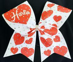 Harlie Valentine Rhinestone Ribbon Bow
