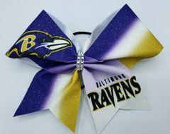 Baltimore Ravens Glitter Vinyl Cheer Bow