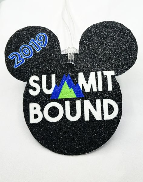 Mickey Shaped Summit Bound Personalized Bag Tag