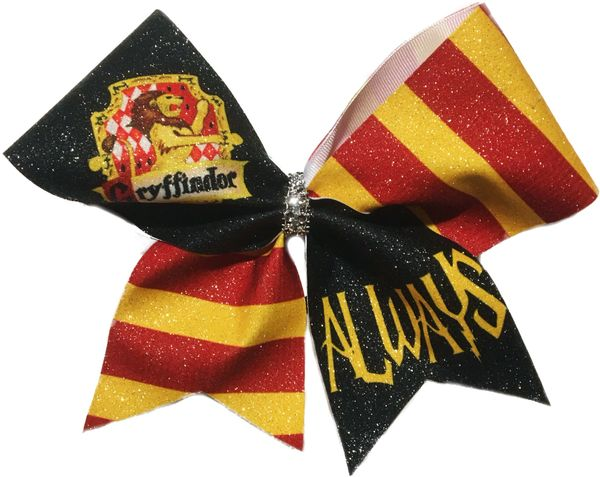 Gryffindor Always Harry Potter Cheer Bow