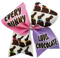 Every Bunny Loves Chocolate Bow Cheer Bow