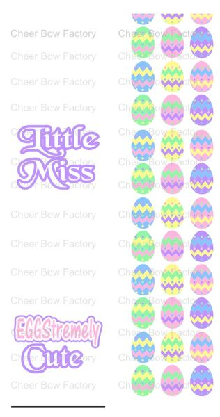 Little Miss Eggstremely Cute Sublimation Cheer Bow Graphic