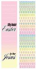 Silly Rabbit Easter is for Jesus Sublimation Cheer Bow Graphic