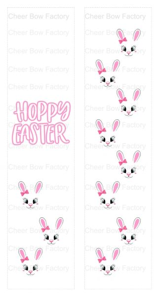 Hoppy Easter Sublimation Cheer Bow Graphic