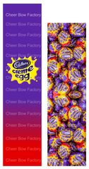 Cadbury Creme Egg Sublimation Cheer Bow Graphic