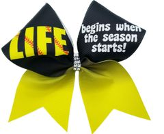 Life Begins When the Season Starts Cheer Bow