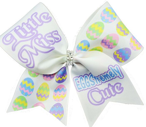 Little Miss Eggstremely Cute Cheer Bow