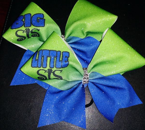 Big Sis / Lil Sis Custom Cheer Bow