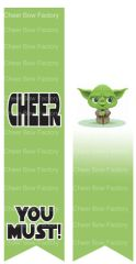 Cheer you Must Yoda Sublimation Cheer Bow Graphic