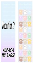 Vacation? Alpaca My Bags! Sublimation Cheer Bow Graphic